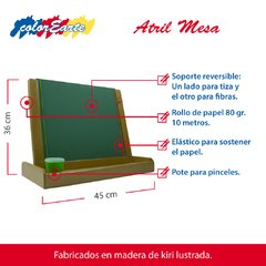 Atril Mesa Multifunción 3 en 1 - Soportes intercambiables - Colorearte