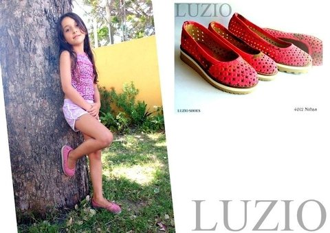 4012 NIÑA Flor Amarillo - LUZIO SHOES