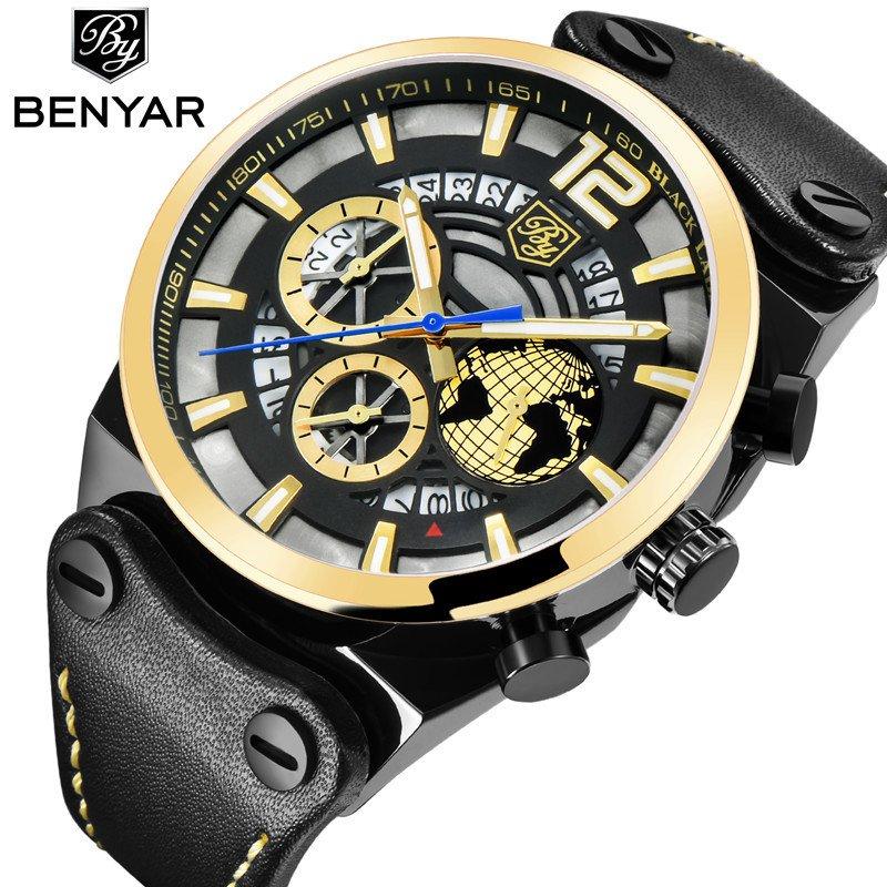 b95a5ffd966 Relógio Benyar Cronógrafo Esporte Moda Militar Relógio Benyar Cronógrafo  Esporte Moda Militar - comprar online ...
