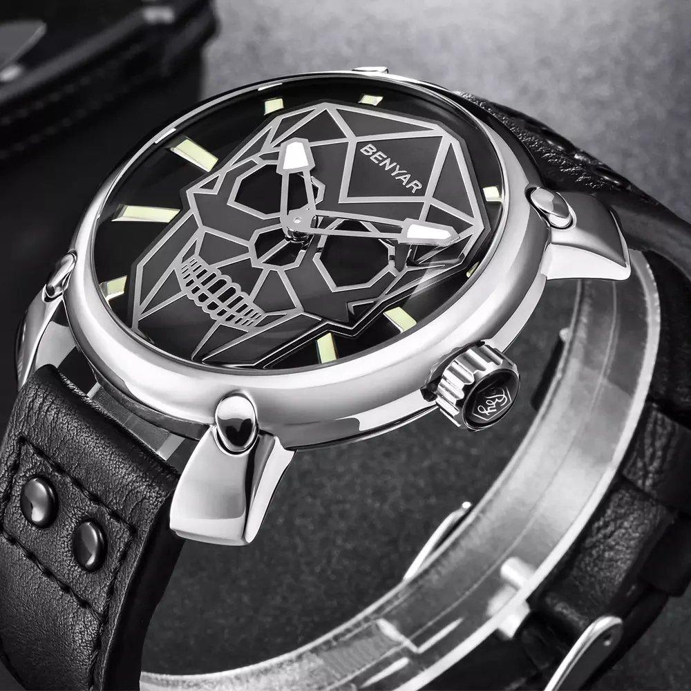 1a8fe5c2801 ... Yasmin Store Relógio Benyar Skull - loja online Imagem do Relógio  Benyar Skull ...