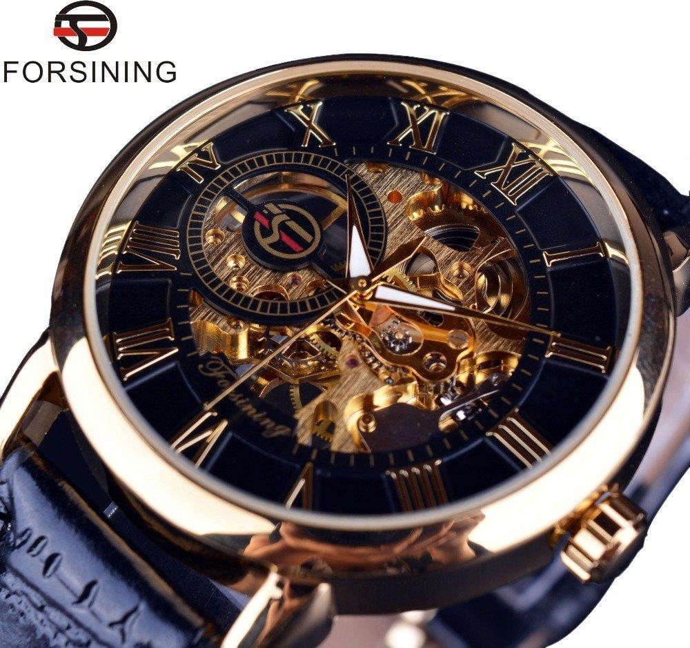 edd007bf8e0 Relógio Forsining 3d Design Marca De Luxo Homens