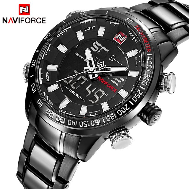 Relógio Naviforce Sport Watch Black Silver - comprar online
