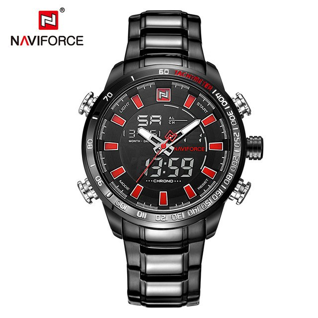 Relógio Naviforce Sport Watch Black Silver