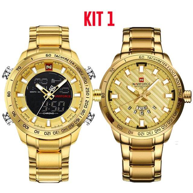 3b919658068 Kit  Relógio Naviforce Sport Watch + Relógio Naviforce Gold