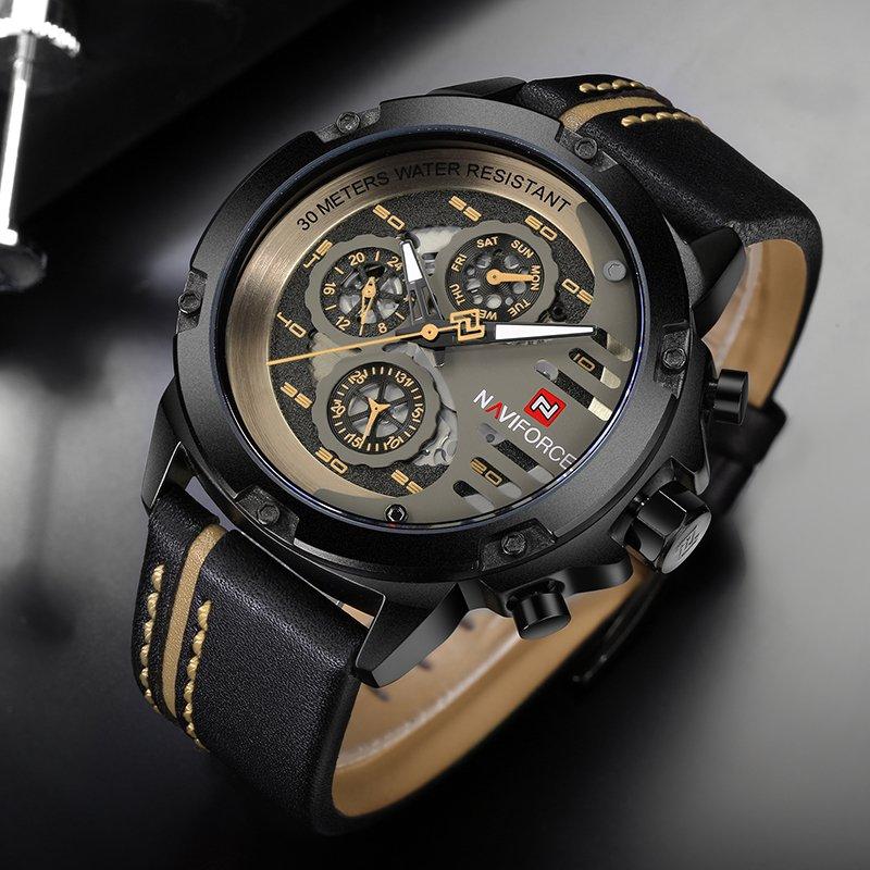 81e6f873fe2 ... Relógio NAVIFORCE Mens Top Marca de Luxo - comprar online ...