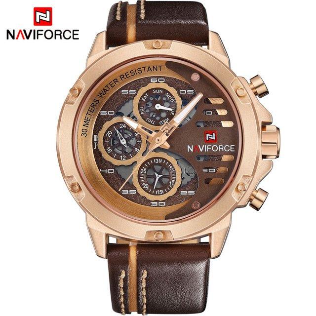 9412c3c03eb ... Relógio NAVIFORCE Mens Top Marca de Luxo - Yasmin Store