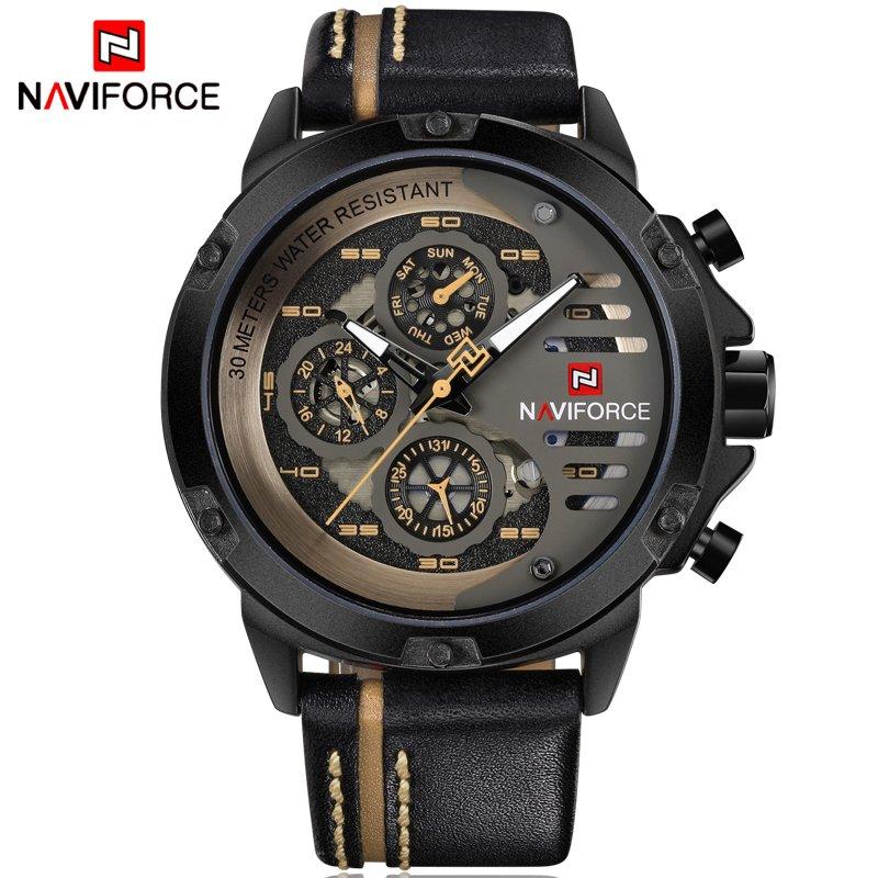 29717f455b3 ... Imagem do Relógio NAVIFORCE Mens Top Marca de Luxo ...