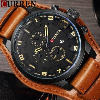a303cf17cbf CURREN Relógio Quartzo Casual de Homens