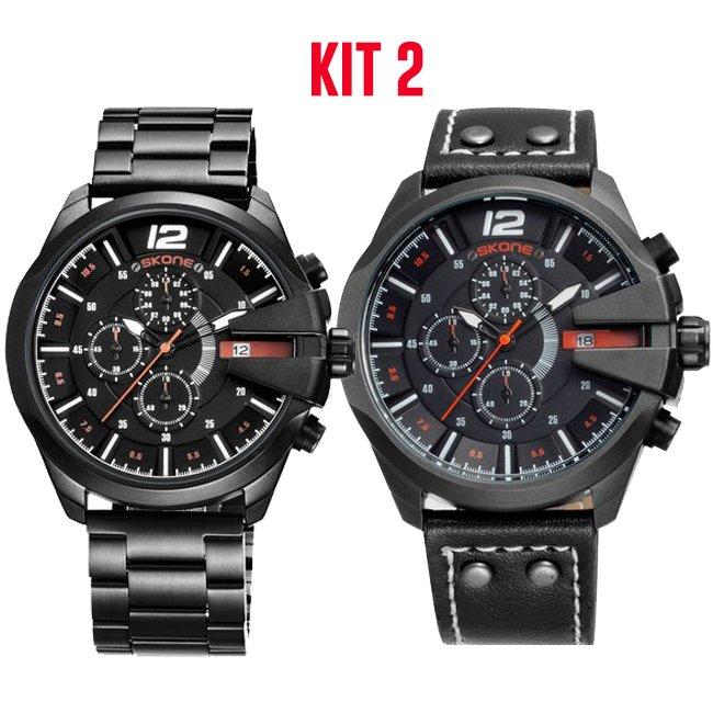 5662ec71a51 ... Kit  Relógio Skone Army Funcional + Relógio Skone Militar - comprar  online
