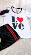 SHORT DOLL COM CAMISETA LOVE