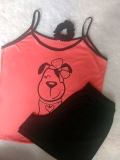 Pijama short Doll com HOT-FIX. - Annafour