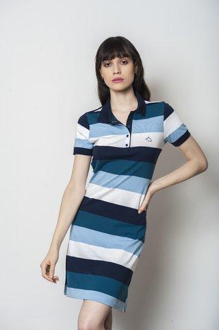 Comprar Vestido Polo em Alka  Listrado Azul Claro E Azul Escuro ... ae1bc0d4c88fe