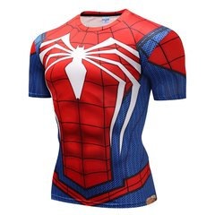 Camisa Spider-Man PS4 Manga Curta