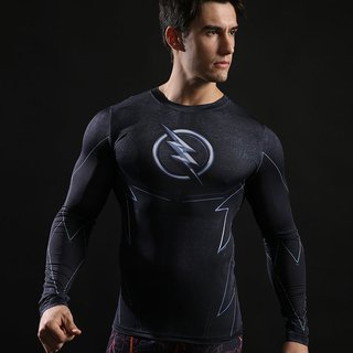 Camisa Zoom The Flash Manga Longa