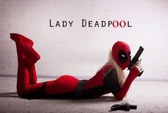 Traje Lady Deadpool Fantasia Cosplay