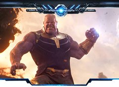 Thanos Fantasia Cosplay na internet