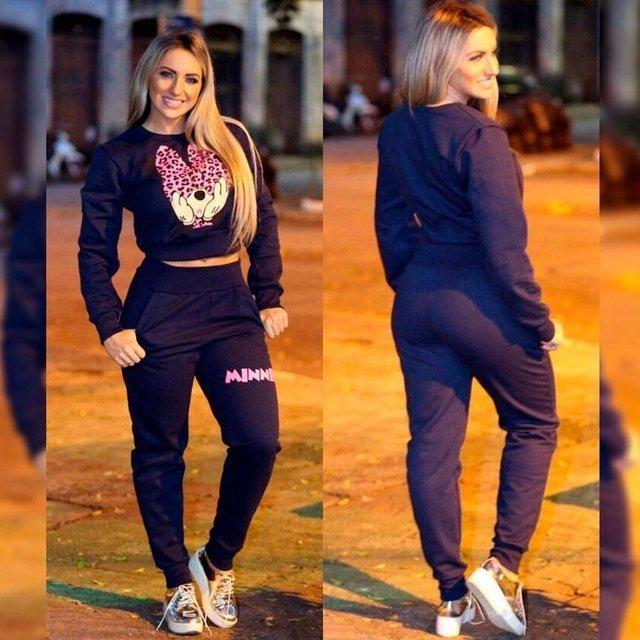 6a846467c0887 Conjunto Jacquard Mickey Moletom Feminino Inspired Gucci