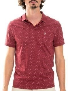 Original Penguin Pattern Polo Dot Print