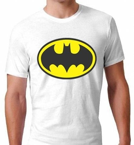 camiseta branca batman