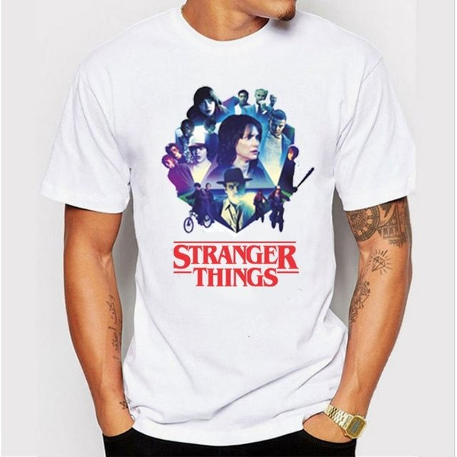 Camiseta - Stranger Things Retrô na internet