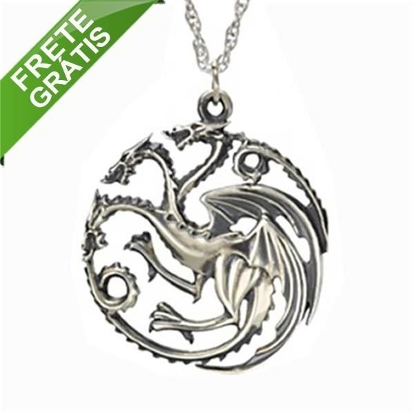 Colar  - Casa Targaryen Game of Thrones