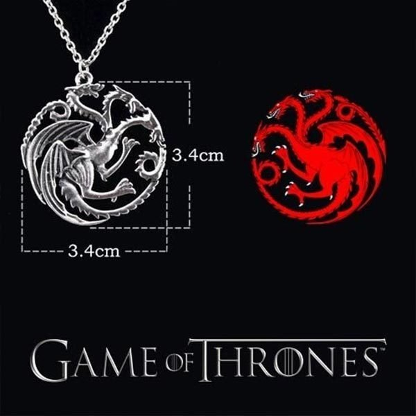 Colar  - Casa Targaryen Game of Thrones - SV Stars
