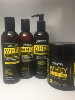 Yenzah Kit Whey Fit Cream Shampoo | Condicionador | Leave-in | Máscara