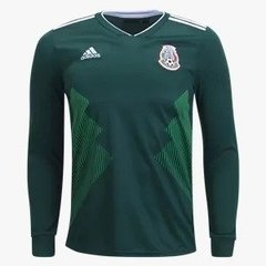Camisa México home 18/19 - Manga longa Fan version