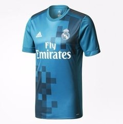 Camisa Real Madrid Terceiro Uniforme -  Azul - 2018 HOME Player Version