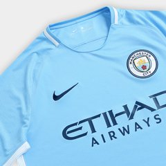 Camisa Manchester City Home 17/18 s/nº- Fan Version- Nike Masculina - Azul Claro - ValeSports