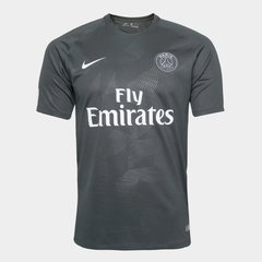 Camisa Paris Saint-Germain Third 17/18 s/n° - Fan Version - Nike - Preto