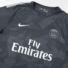 Camisa Paris Saint-Germain Third 17/18 s/n° - Fan Version - Nike - Preto - ValeSports