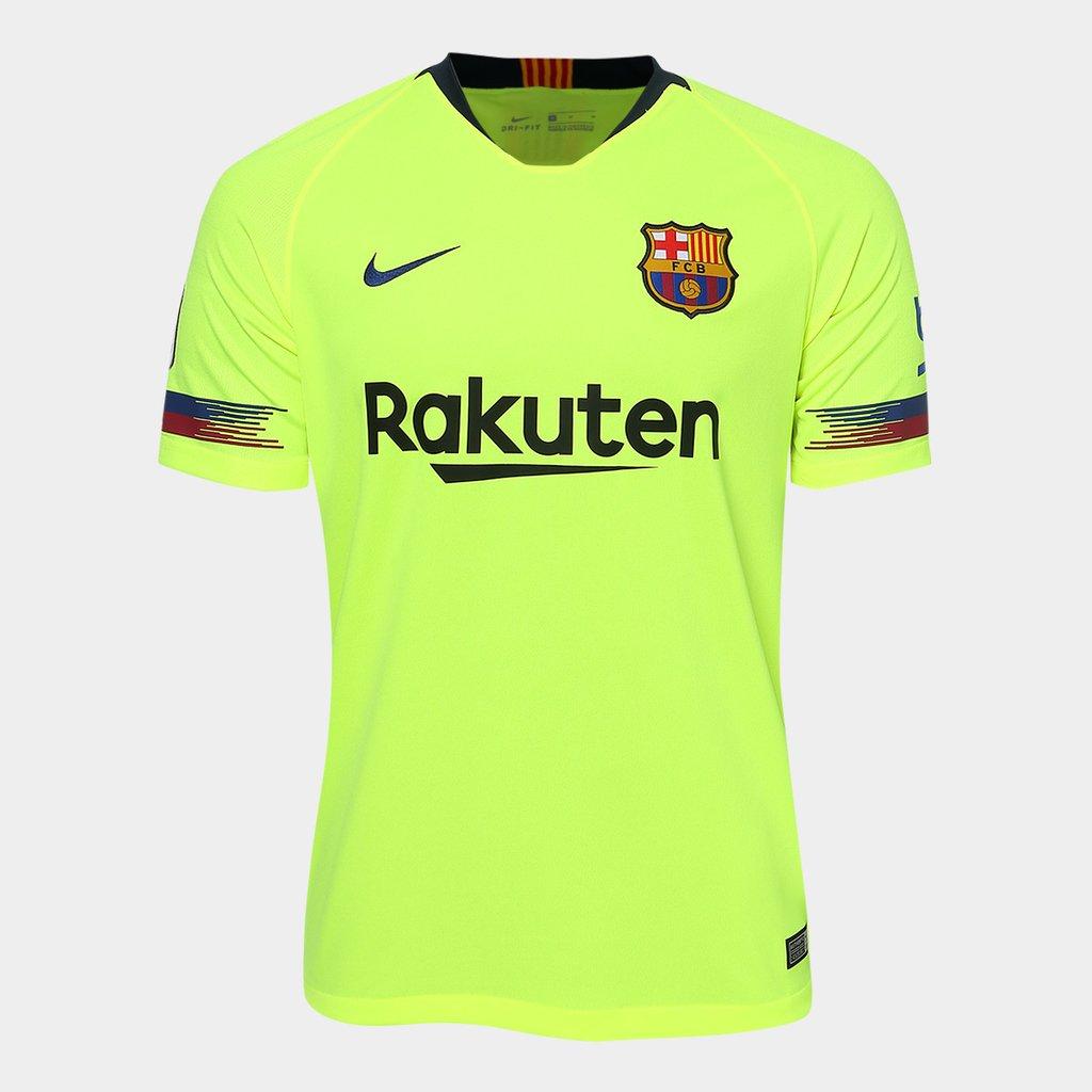b9498ebd0a882 Camisa Barcelona Away 2018 s n° - Torcedor Nike Masculina - Verde