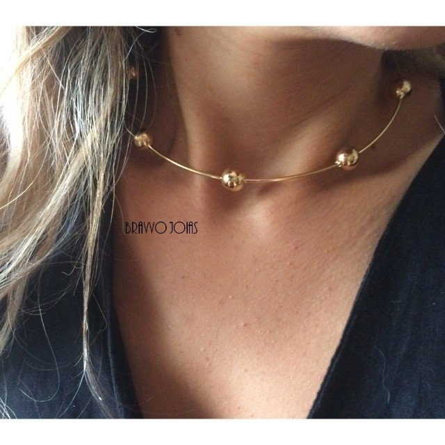 Choker Thássia - Ouro - comprar online