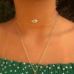 Choker Olho Grego - Ouro - loja online