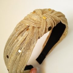 Tiara Turbante Ouro