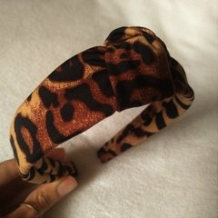 Tiara Turbante Animal Print - Bravvo Jóias