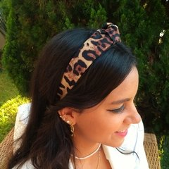 Tiara Turbante Animal Print