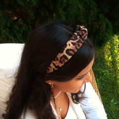 Tiara Turbante Animal Print na internet