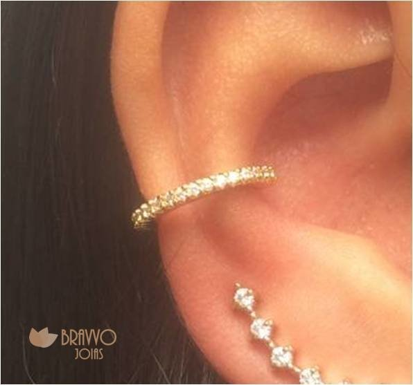 Piercing Falso Skinny - Ouro - comprar online