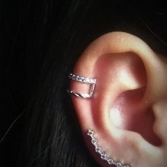 Piercing Falso Duo - Ródio - Bravvo Jóias