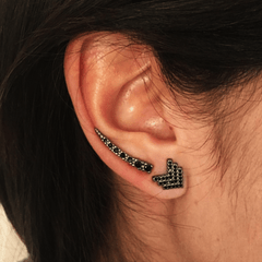 Brinco Ear Cuff - Ródio Negro na internet