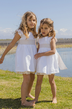 VESTIDO Lavanda 100% Lino - Belier, baby & child clothing