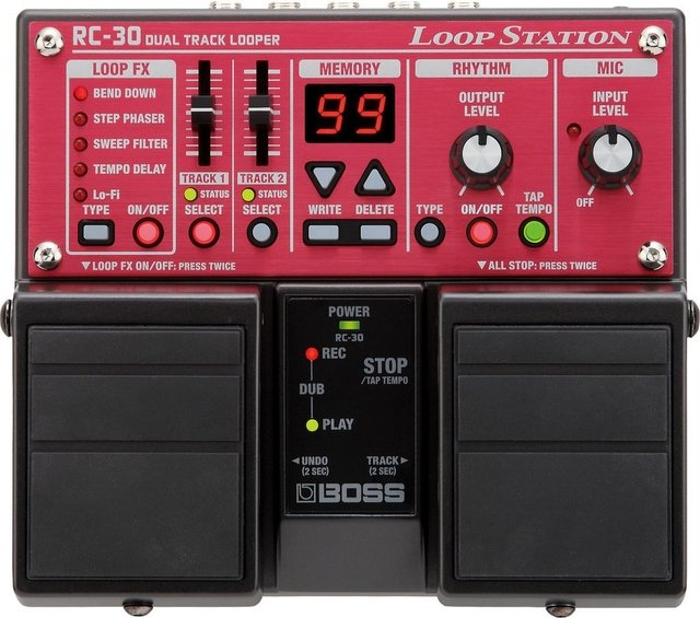 Boss - Pedal de Efecto RC30 Loop Station