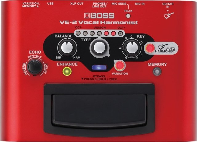 Boss - Pedal de Efecto VE-2 Armonizador Vocal