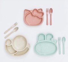 Set plato y cubiertos Hello Kitty - comprar online