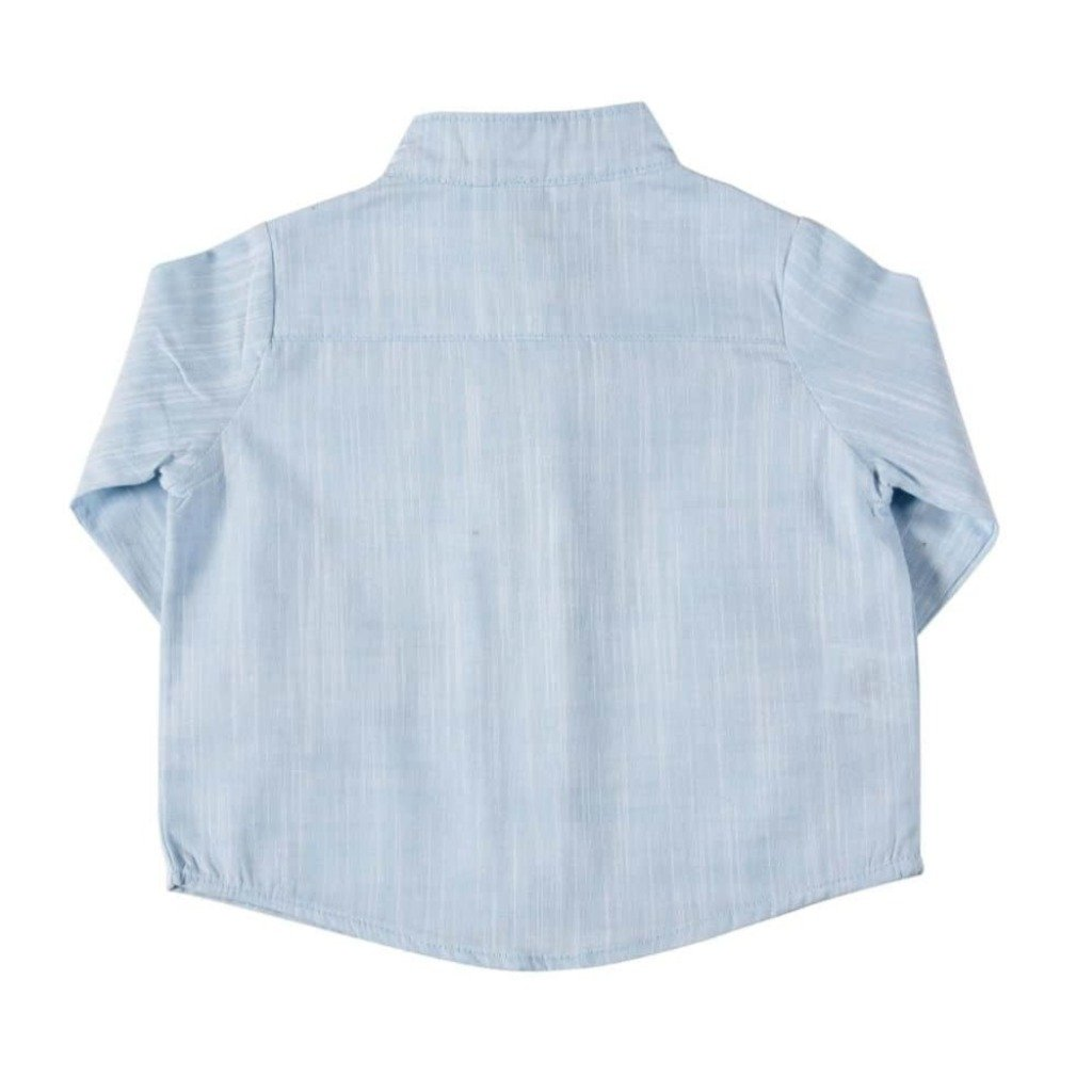 bd0a727585 ... Camisa Gola Padre Azul. 25 % OFF