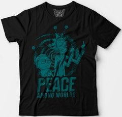 Camiseta Peace Among Rick and Morty