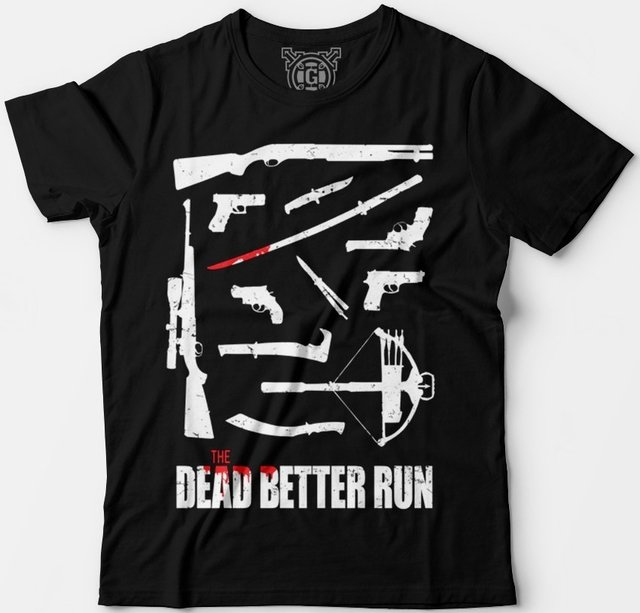 Camiseta the walking dead armas