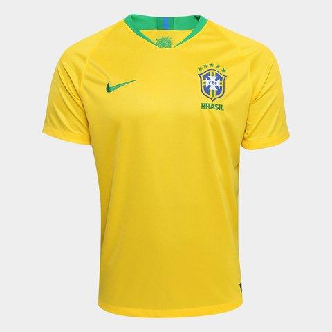 Camisa Seleção Brasil I 2018 s n° - Torcedor Nike Masculina 70b8abd6593d9